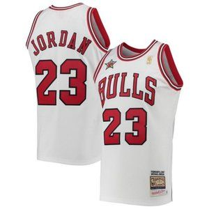 Michael Jordan Mitchell Ness Retro Jersey White